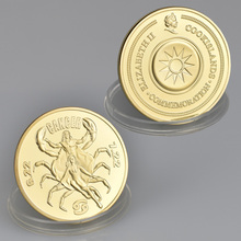 Friend Gift Constellation Cancer Gold Plated 1 oz Coin