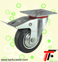 Rubber casters and wheels,industrial swivel wheels for trailers