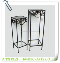 LC-76088 Wrought Metal Iron Square Shape Plant Stand Set of 2