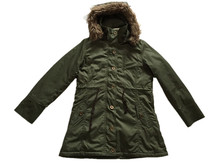 mens stylish military green hooded long overcoat for winter