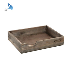 China Factoryretro Vintage Wooden A4 Paper Box File Tray