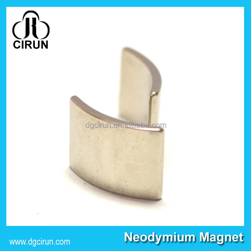 Customized Arc shape neodymium motor magnets for wind generators