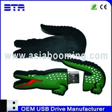Custom! PVC alligator usb