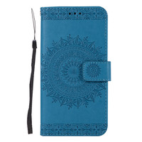 Mobile Phone Accessories, Embossing Leather Phone Case for Samsung S7 Edge Case