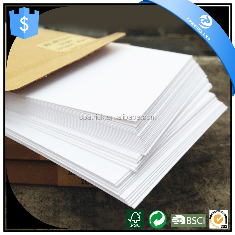 White Kraft Paper Double-sided Available Blank Kraft Cardboard Word Message DIY Blank