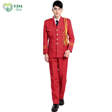 Chinese Red Marching Band Ceremonial Formal Military Uniform