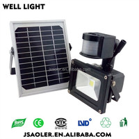 CE ROHS 10w20w led solar outdoor light with timer solar flood light
