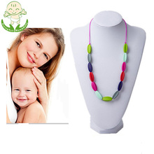 Non Toxic BPA Free Silicone Chewable Beads Jewelry Baby Teething Necklace