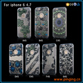 Newest lace hollow out printing transparent mobile phone silicone case for iphone 6