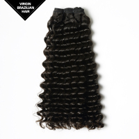 Long Lasting Black Women Remy Human Hair Extension Virgin Brazilian Deep Wave Hair