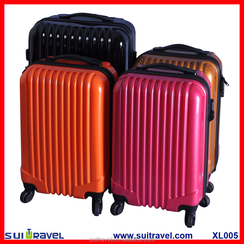 China Factory Hard shell pc abs hard shell luggage set