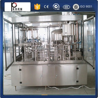 Servo motor automatic drinking water washing filling capping machine soda water filling machine with pneumatic driven type
