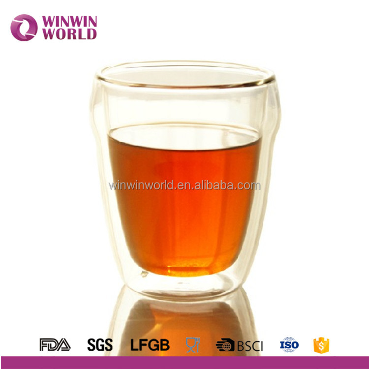 2017 Promotion Borosilicate Double Wall Glass Water Mug Juice Mug