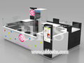 13 by 8 ft newest ice cream food kiosk, shopping mall ice cream retail kiosk to US