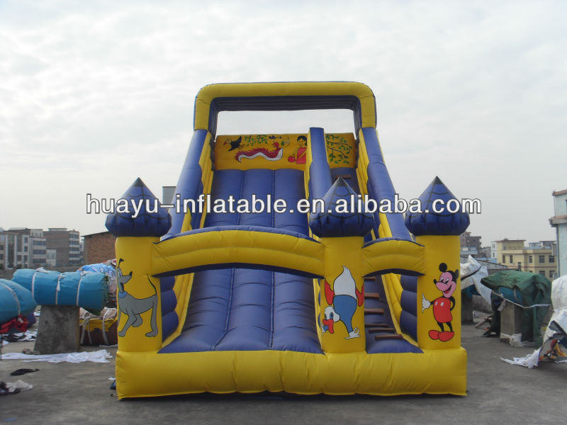 Mickey Mouse And Donald Duck Dogs Girls Theme Birds Cartoons Inflatable Slide