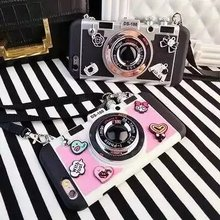 Latest Design Soft Silicone PC Phone Case , Camera Pattern Cartoon Case for iPhone 6