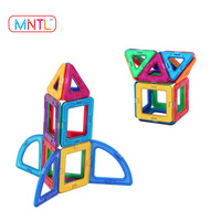 MNTL 16-PCS Intelligence Building Blocks Building Block Bricks Construct Toy Magnetic Blocks Toys