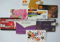 2013 promotional doubleside printed super thin name card usb flash 2.0,1GB-32GB