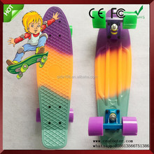 3 colors fish style plastic skateboard complete cruiser for sale