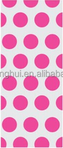 Hot Pink Polka Dot Cello Birthday Party Favor Gift Treat Goodie Bag 11x5 (20)