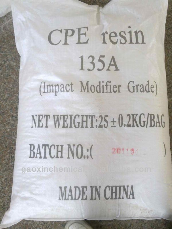 CPE resin for plastic impact modifier