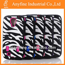 Zebra Hybrid Rugged Rubber Matte Hard Case for Samsung galaxy s4