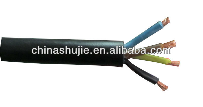 H05RN-F/H07RN-F shujie electric wire rubber cables rubber welding cable