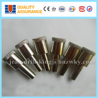 Long service life diamond core drill bit for glass