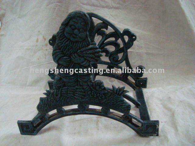 cast iron garden decorative water hose hanger
