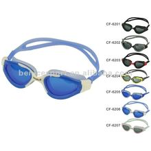 sporting swimming goggles, wholesale,Waterproof PC Anti-fog lens Silicone