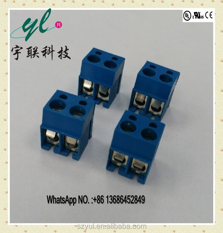 free shipping PCB 3.81/5.0/5.08 mm pitch 90 degree right angle wire connector electric terminal block