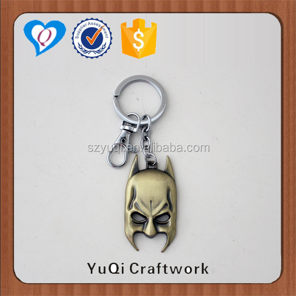 High end personalized batman kirsite metal keychain