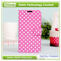 leather flip dot view back cover for htc desire 616