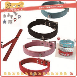 Decorative dog collars ,CC014 pvc bling collars small dogs large dogs , retractable leash