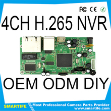 4ch 1080P POE dvr motherboard NVR mainboard support ONVIF protocol network video recorder h.264 pcb board
