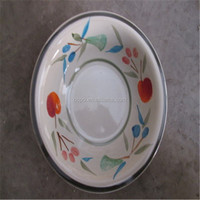 10 Cent Items 10.5'' Ceramic Dinner Plate/Hand-Painted Stoneware Plate/Cheap Bulk Dinner Plates