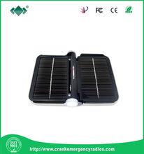 Cell phone solar charger for camping