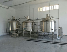 Beer equipment brewing kettle, mash tun brewhouse with steam jacket and false bottom