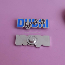 metal UAE DUBAI letter Crystal badges