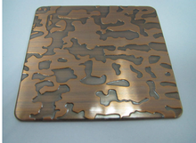 4*8 copper cover etching stainless steel decorative sheet
