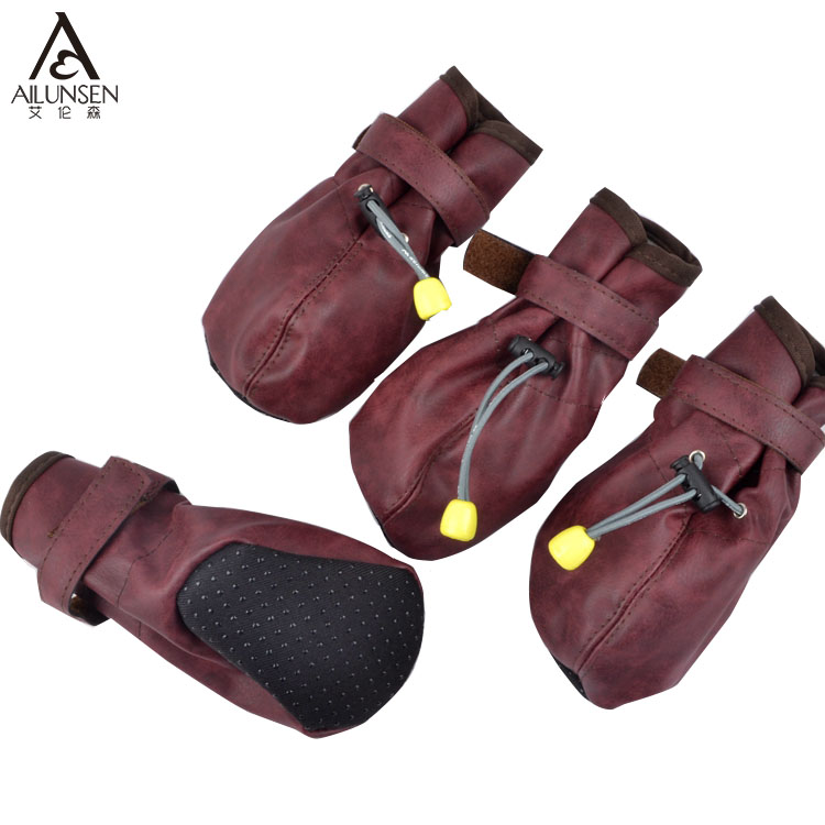 Wholesale Fashion Pet PU Leather Dog Shoes For Sale