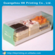 Custom PET clear plastic slice cake box with logo printed