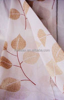 hot selling yellow leaf print curtain/print window curtains