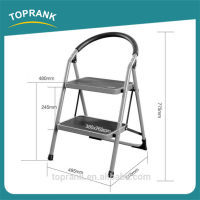 High quality multipurpose metal safety 2 step ladder with handrail