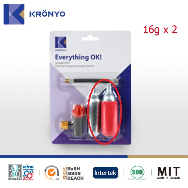 KRONYO 16g co2 cylinder 16g threaded co2 cartridges co2 inflator