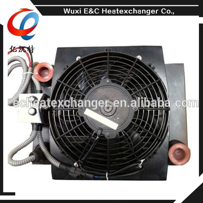 hot sale aluminum plate bar hydraulic fan air oil cooler for excavator