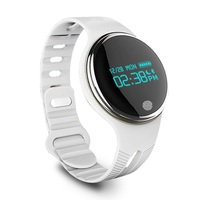 Bluetooth Smartphone Smart Watch Wristband Led Bracelet Heart Rate Pedometer E07 China Factory