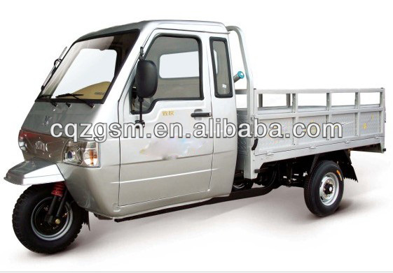 250cc cargo tricycle/three wheeler with closed cabin