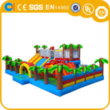 Giant Colourful Inflatable Kids Playground , Outdoor Amusement park Inflatables Wholesale