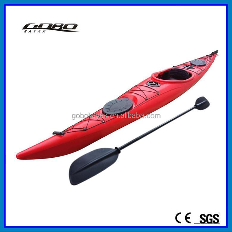 single rubber ocean kayak with Fin and pedals